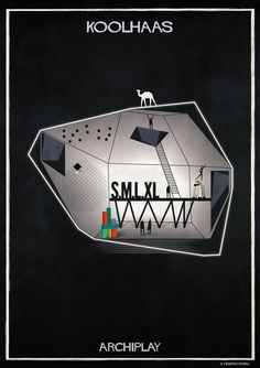 Image 1 of 29 from gallery of Federico Babina's ARCHIPLAY Illustrations Imagine Set Designs by Master Architects. Photograph by Federico Babina Famous Architecture, Architecture Drawings, Architecture Design, Architecture Posters, Classical Architecture, Set Design, Book Design, Design Art, Rem Koolhaas