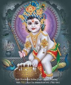 Krishna Lila, Bal Krishna, Krishna Art, Shree Ganesh, Jai Shree Krishna, Ganesha, Yashoda Krishna, Lord Krishna Images, Lord Vishnu