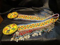 Tribal Beaded Belt Handmade Afghani Vintage Adjustable Boho Chic by StolaStore on Etsy