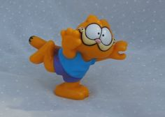 980s PVC Garfield Figurine Standing on One Foot
