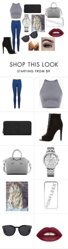 """""""the day you met nate garner"""" by thats0jai on Polyvore featuring Miss Selfridge, Yves Saint Laurent, River Island, Givenchy, Tommy Hilfiger, Barton Perreira, women's clothing, women, female and woman"""
