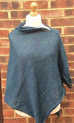 A personal favourite from my Etsy shop https://www.etsy.com/uk/listing/460397224/womans-teal-knitted-poncho-with-scottish