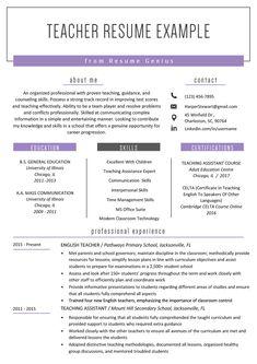 Teacher Resume Samples & Writing Guide 2019 2020 ---CLICK IMAGE FOR MORE--- resume how to write a resume resume tips resume examples for student Teaching Resume Examples, Professional Resume Examples, Job Resume Examples, Resume Ideas, Resume Writing Samples, Sample Resume, Professional Resume Template, Student Cv Examples, Basic Resume