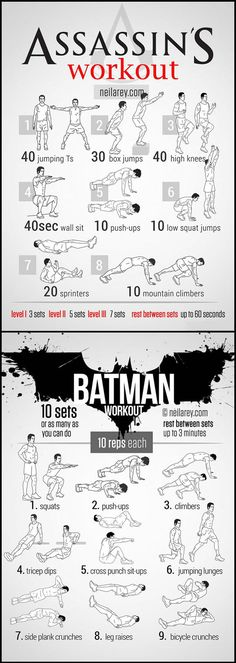 Workout as your favorite character…