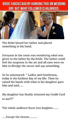 Bride Places Best Gift Ever In Dad's Hands On Wedding Day. But What Followed Is Hilariou