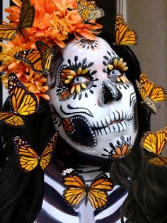sugar skulls face painting competition hosted by Illusion magazine and Illusion face paint store Costume Halloween, Up Halloween, Halloween Makeup, Skeleton Costumes, Skeleton Makeup, Candy Skull Makeup, Candy Skulls, Sugar Skull Face Paint, Sugar Skull Art
