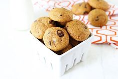 Soft and chewy spiced pumpkin cookies dotted with chocolate chips! These are the BEST Pumpkin Chocolate Chip Cookies. We make endless batches every fall! Vegan Pumpkin Cookies, Pumpkin Cookie Recipe, Pumpkin Chocolate Chip Cookies, Chocolate Chip Oatmeal, Healthy Pumpkin, Cookie Recipes, Oatmeal Cookies, Dessert Recipes, Vegan Sweets