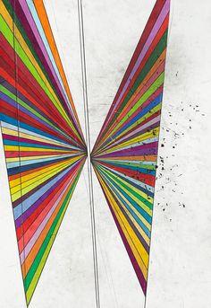 ufansius: Untitled (2 Wings) - Mark Grotjahn