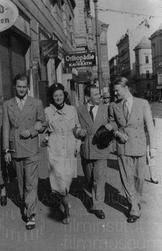 Nachlass Curd Jürgens | Curd Jürgens und Lulu Basler mit Freunden, Anfang 1940er Jahre, 2