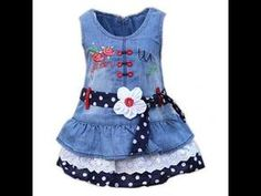 2931e7124 Stylish And Modern Style jeans frocks\baby frocks FOr Girls - YouTube Šaty  Pre Malé