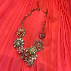 Floral multi color statement necklace Bring a pop color to any outfit with this gorgeous statement necklace!  Jewelry Necklaces