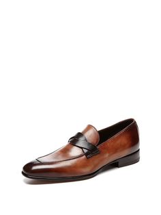 Tom Ford Burnished Leather Penny Loafer