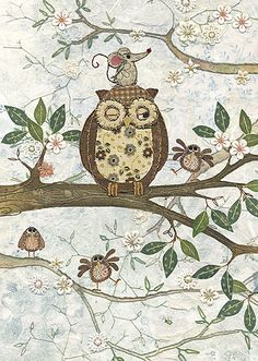 Owl and Mouse by Amy Butcher and Jane Crowther for Bug Art greeting cards.