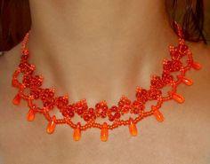Free pattern for necklace Orange Fresh