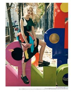 """Anna Paris"" | Model: Anna Ewers, Photographer: Craig Mcdean, W Magazine, December 2014/January 2015"