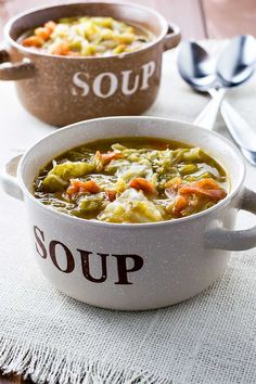 Weight Loss Wonder Soup! A filling and healthy wonder soup to assist with any diet. Vegetarian, gluten free, vegan, paleo - this soup will leave you feeling full. | HomemadeHooplah.com