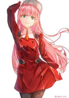 Zero Two (Darling in the FranXX) Image - Zerochan Anime Image Board Vocaloid, Kaito, Neko Kawaii, Kawaii Anime Girl, Manga Anime, Anime Art, Comics Anime, Haruhi Suzumiya, Cosplay Anime