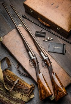 Gentleman Bobwhite — Classic droplocks by Wesley Richards Weapons Guns, Guns And Ammo, Bushcraft, Double Barrel, Custom Guns, Fire Powers, Hunting Rifles, Firearms, Shotguns
