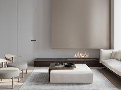 PURE on Behance Apartment Interior Design, Interior Design Living Room, Home Living Room, Living Spaces, Coffee Room, Luxury Living, Modern Living, Interior Architecture, Furniture Design