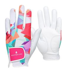 Just like you, your golf accessories should stand out on the course. The Eighteen Eves Ladies Leather Golf Glove is where style meets golf. This tutti frutti ladies golf glove is fashioneered with a flexible back, allowing your grip to form easily. | eBay!