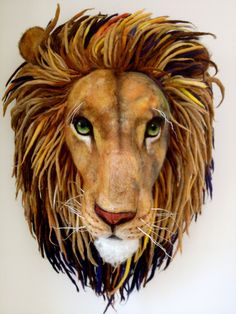 *NEEDLE FELTED ART ~ Aslan from Narnia needle Felted by Richard Hanna..
