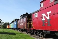 Stay at the Red Caboose Motel in Pennsylvania. Each caboose is a fully furnished hotel room!! This is AMAZING!!