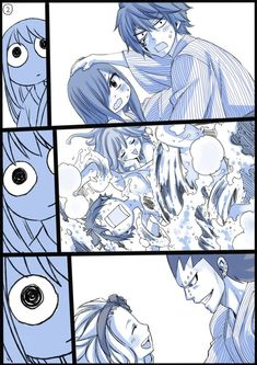 Fairy tail couples part 2 (gruvia, gale, jerza) Natsu Fairy Tail, Fairy Tail Erza Scarlet, Gale Fairy Tail, Fairy Tail Funny, Fairy Tail Love, Fairy Tail Art, Fairy Tail Guild, Fairy Tail Manga, Fairy Tail Ships