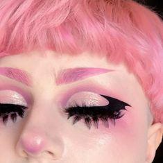 Punk Makeup, Edgy Makeup, Grunge Makeup, Gothic Makeup, Eye Makeup Art, Hair Makeup, Pastel Goth Makeup, Pastel Goth Nails, Anime Makeup