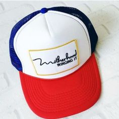 "New """"Motherhood Winging It"""" Trucker Hat"