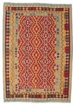 Kelim Afghan Old style Teppich 152x210