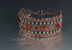 Here is the biggest bracelet I have woven so far, with 20 base wires and 6 independent weaving wires.  Loads of fun!  --Lisa Barth
