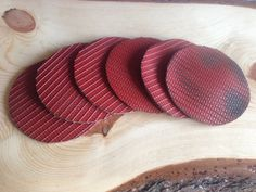 Recycled fire hose coasters