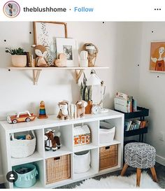 The IKEA Kallax collection Storage furniture is an important element of any home. Stylish and wonderfully easy the rack Kallax from Ikea , for example. Trofast Ikea, Ikea Kallax Shelf, Ikea Kallax Regal, Ikea Kallax Nursery, Kallax Shelving, Baby Bedroom, Baby Room Decor, Kids Bedroom, Ikea Baby Room