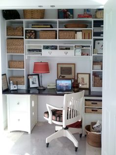 15 closets turned into space-saving office nooks | closet office