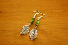 Boho Drops - Paper Bead Earrings (Antique Silver) – Naoi