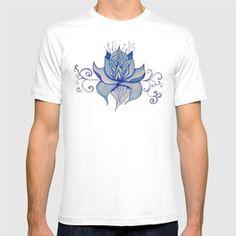 Watercolor Blue Lotus T-shirt