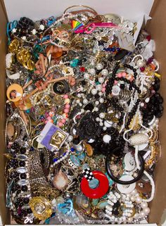 Lot 571: Costume Jewelry Assortment; Including bracelets, necklaces, pins, pendants and earrings
