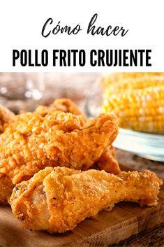 Seguro que todos os habéis preguntado cómo hacen el pollo frito en el KFC para que tenga ese rebozado tan crujiente y especiado. Aprende hoy cómo elaborar un delicioso y sencillo pollo frito crujiente estilo KFC. Este delicioso pollo crujiente queda igual que el de la famosa cadena americana, con la ventaja de que esta hecho en casa. Una receta que una vez que pruebes repetirás muchas mas veces #pollo #kfc #lacocinadelila Family Meals, Kids Meals, Easy Meals, Pollo Frito Kfc, Most Popular Recipes, Favorite Recipes, Empanadas, Guisado, Snack Recipes