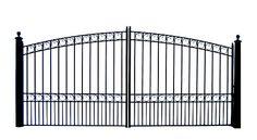Aleko® Driveway Gates Iron Gates Steel Gate New Paris New Style 12' | eBay