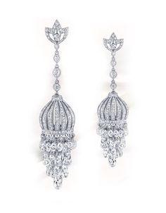 Neil Lane Diamond Briolette Chandelier Earrings Profile Photo