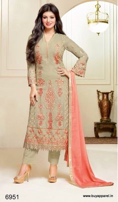Ayesha Takia Beige Colour Georgette Suit