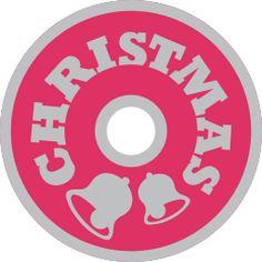 christmas word art tag