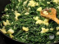 Spanac si cartofi sote Stevia, Romanian Food, Romanian Recipes, Seaweed Salad, Vegetarian Recipes, Grains, Easy Meals, Veggies, Food And Drink