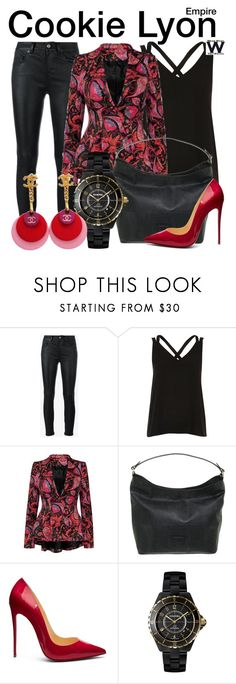 """""""Empire"""" by wearwhatyouwatch ❤ liked on Polyvore featuring Yves Saint Laurent, Balmain, Christian Louboutin, Chanel, television and wearwhatyouwatch"""