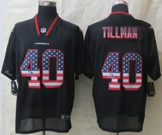 Nike Arizona Cardinals  40 Pat Tillman 2014 USA Flag Fashion Black Elite  Jersey Cardinals Jersey 30b1951d3