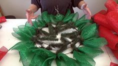 This is a revision of a very popular tutorial on making a Poinsettia mesh wreath. Initially, kits were available with products for this Christmas Mesh Wreaths, Deco Mesh Wreaths, Yarn Wreaths, Winter Wreaths, Spring Wreaths, Summer Wreath, Door Wreaths, Christmas Angels, Christmas Christmas
