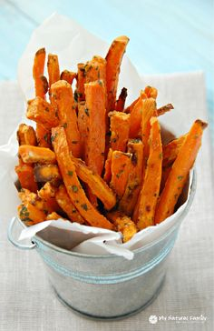 Perfect, Baked Sweet Potato Fries Recipe (Paleo, Clean Eating, Gluten-Free…