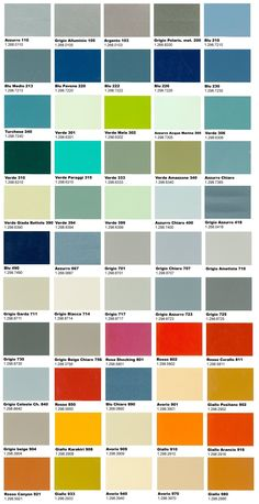 la gamma definitiva di colori originali Vespa. More