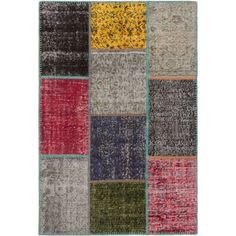ecarpetgallery Color Transition Patch Wool Rug