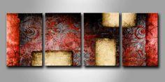 CA_003 / Cuadro Abstracto retro rojo